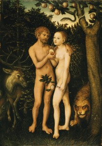 Adam and Eve in Paradise, Lucas Cranach, 1532