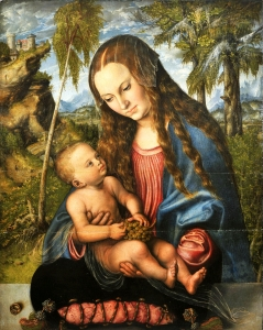 "Cranach, ""Madonna Under the Fir Tree,"" 1510, public domain"