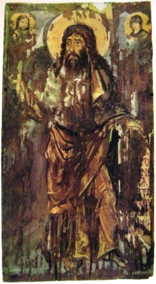 """John the Baptist,"" icon in Kiev Museum, public domain."