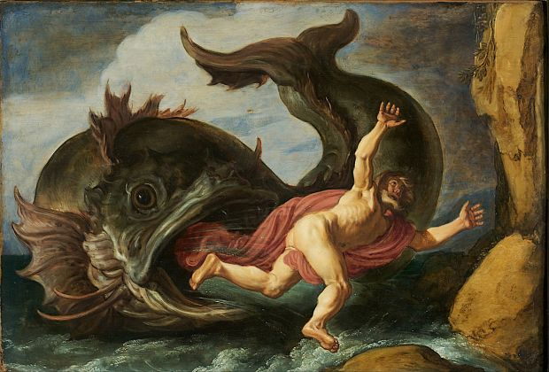 """""""Jonah and the Whale,"""" Pieter Lastman, 1620, made available through the Google Art Project"""